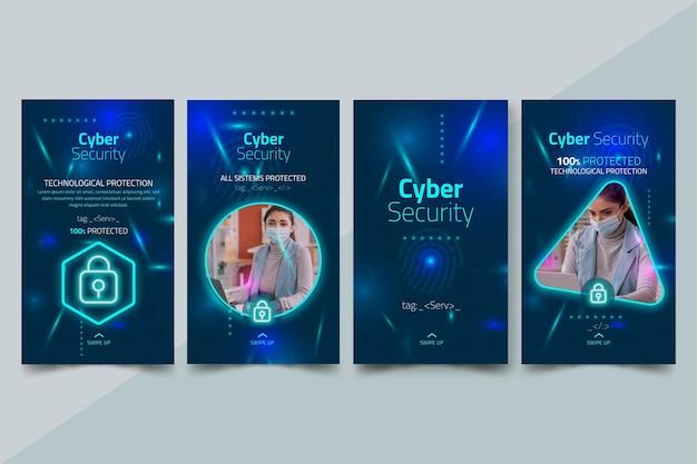 Historias de instagram de seguridad cibernética