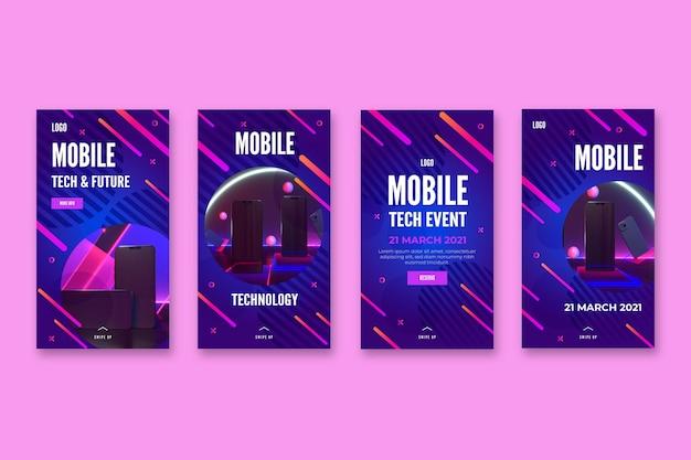 Historias de instagram de tecnología móvil