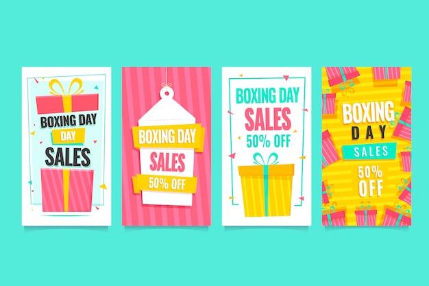 Historias de instagram de venta de boxing day