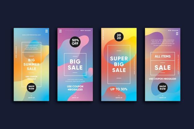 Historias de instagram de venta colorida