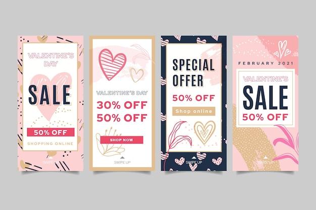 Historias de instagram de ventas de san valentín