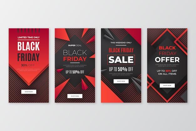 Historias de instagram de viernes negro degradado
