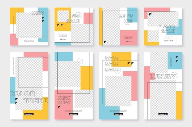 Historias y publicaciones con formas rectangulares