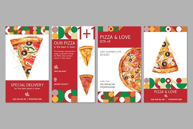 Historias de redes sociales de pizzerías