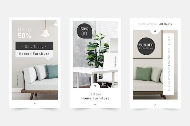 Historias de redes sociales de venta de muebles