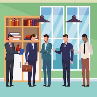 Historieta ejecutiva de negocios