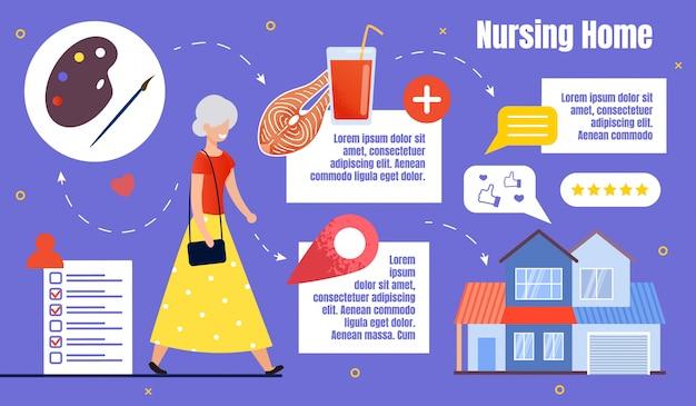 Hogar de ancianos infografía