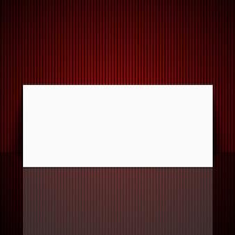 Hoja blanca sobre un hermoso fondo rojo.