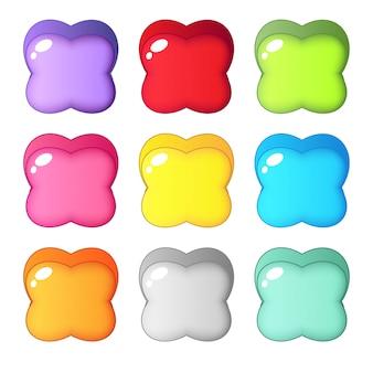 Hoja colorida linda de la forma cuatro del caramelo.