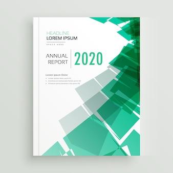 Hoja de cubierta de libro de negocios verde abstracto o plantilla de folleto