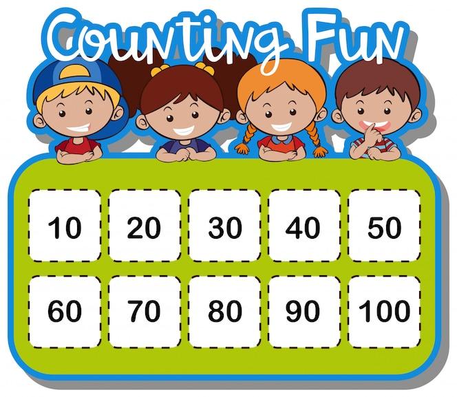 Hoja de cálculo matemática para contar números | Descargar Vectores ...
