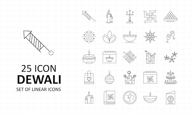 Hoja de iconos dewali pixel perfect icons