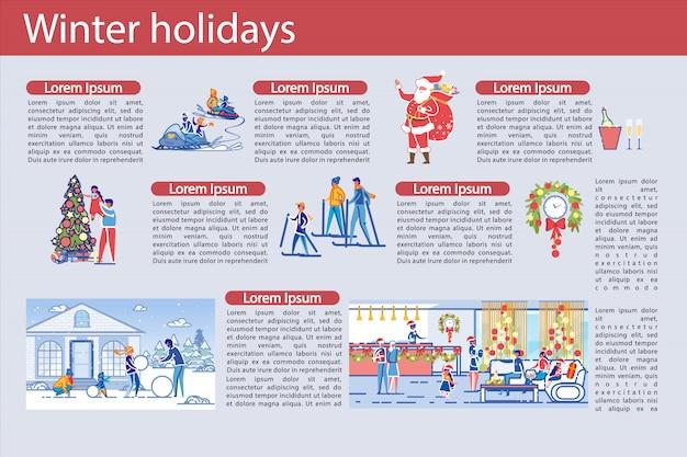 Hoja informativa sobre vacaciones de invierno