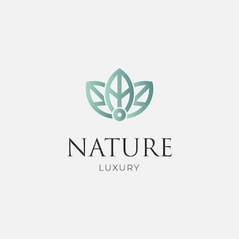 Hoja de lujo minimalista logo