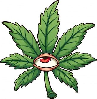 Hoja De Marihuana De Colores Vector Gratis