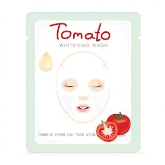 Hoja de máscara de tomate