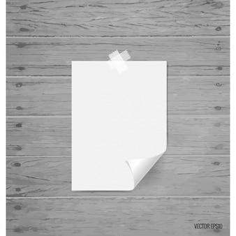 Hoja de papel en blanco
