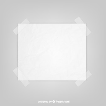 Hoja de papel con cinta adhesiva