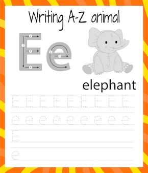Hoja de práctica de escritura a mano