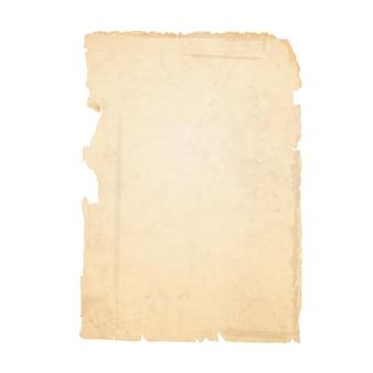 Hoja rasgada de papel viejo