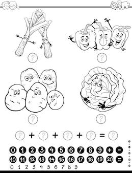 Hoja de trabajo de actividad matemática para colorear