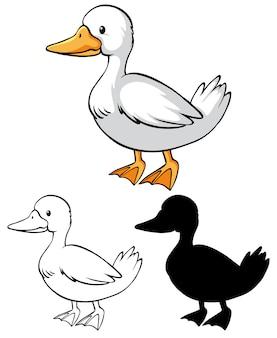 Hoja de trabajo para colorear pato niños
