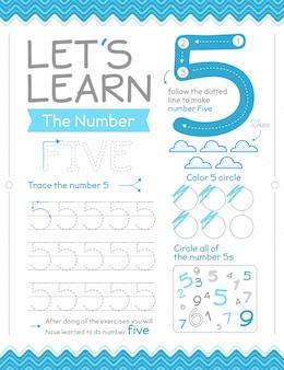 Hoja de trabajo número 5 con círculos