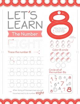 Hoja de trabajo número 8 con círculos