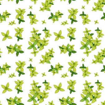 Hoja verde de patrones sin fisuras