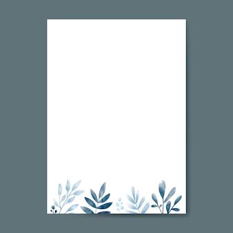 Hojas de acuarela con diseño de espacio de copia