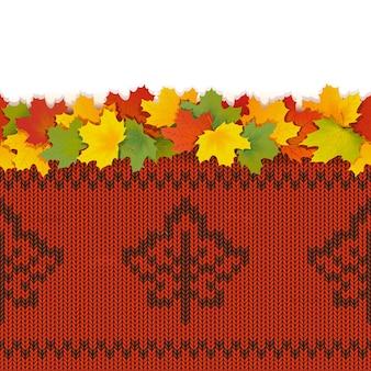 Hojas de arce con fondo transparente tejido otoño aislado sobre fondo blanco.
