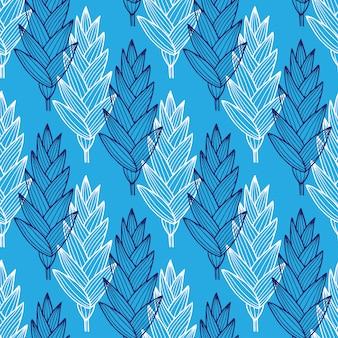 Hojas azules de patrones sin fisuras