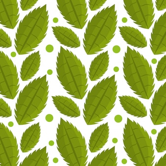 Hojas y hojas ecología gráfica de patrones sin fisuras