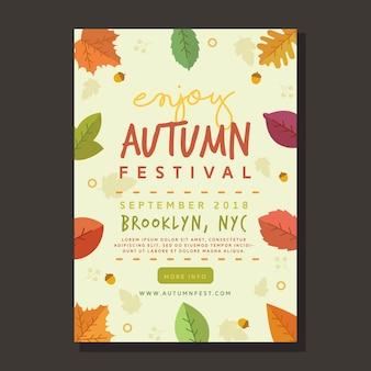 Hojas de otoño para el cartel del festival
