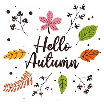 Hojas de otoño cayendo dibujos animados