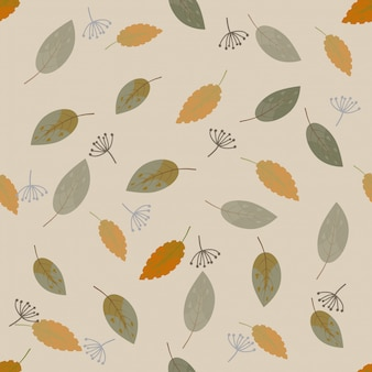 Hojas de otoño lindo inconsútil de patrones sin fisuras