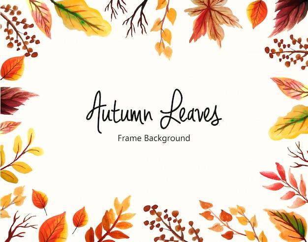 Hojas de otoño marco de fondo