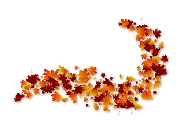 Hojas de otoño remolino.