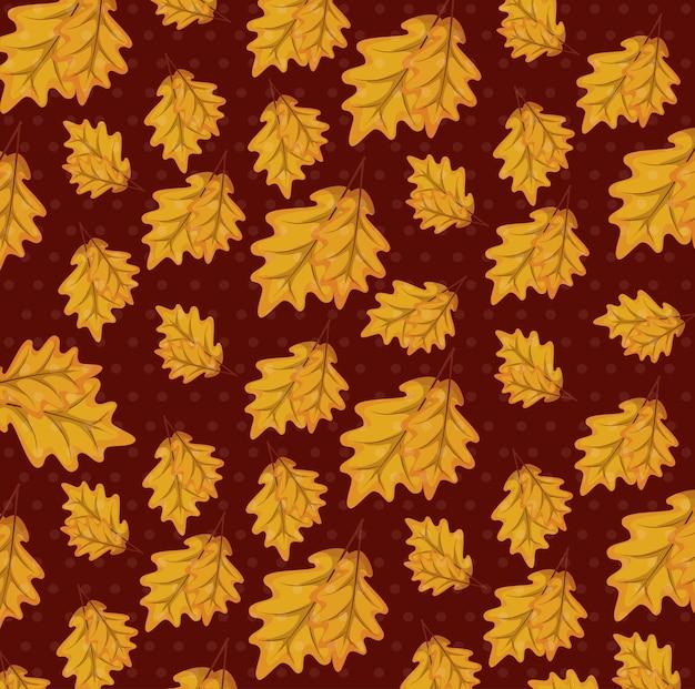 Hojas de otoño de trama de fondo