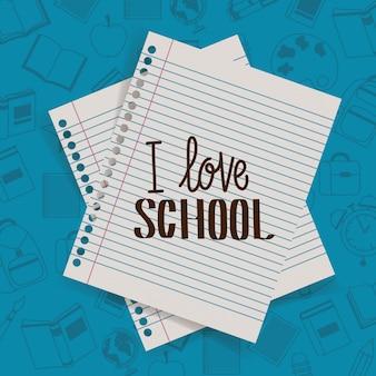 Hojas de papel de regreso a la escuela