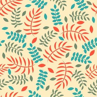 Hojas de patrón floral vintage