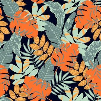 Hojas y plantas tropicales