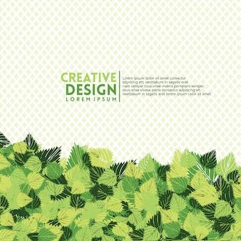 Hojas con remolinos en color verde