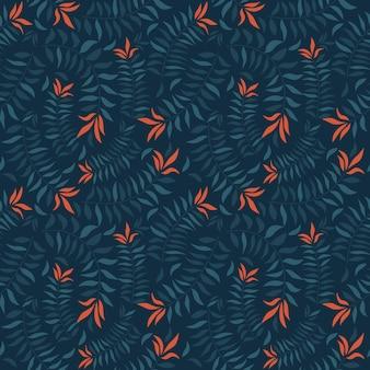 Hojas tópicas en patrones sin fisuras para la textura de la tela