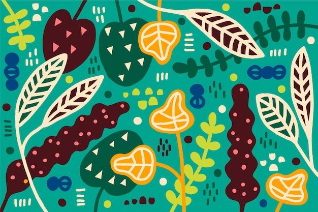Hojas tropicales abstractas