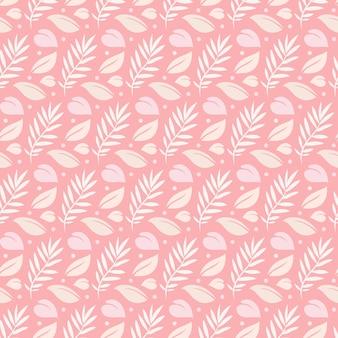 Hojas tropicales en color rosa de fondo transparente