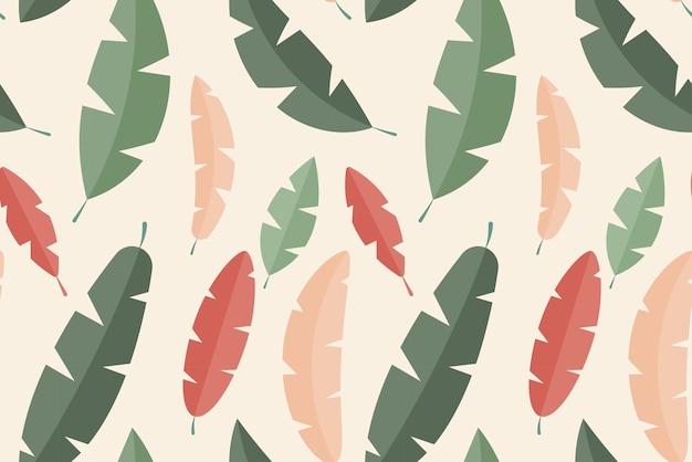 Hojas tropicales simples de patrones sin fisuras