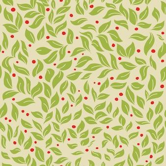 Hojas verdes de patrones sin fisuras