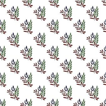 Hojas vintage de patrones sin fisuras. fondo de pantalla de hojas de ramas geométricas.