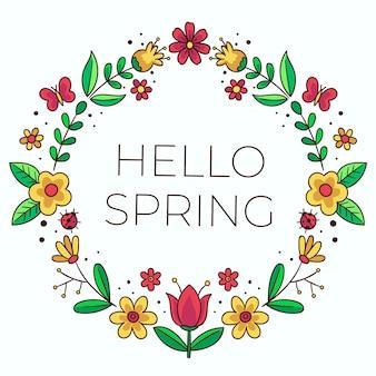 Hola banner de primavera